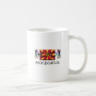 Homo Macedonia Taza Básica Blanca