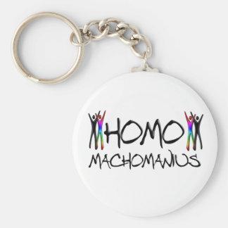 Homo macho man basic round button keychain