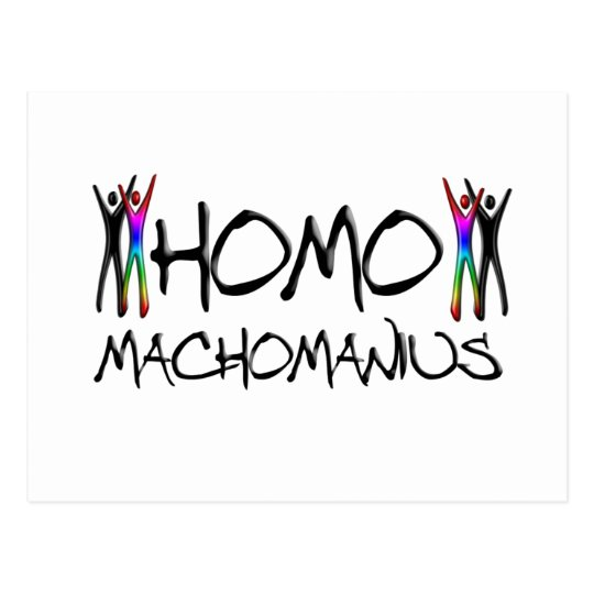 Homo macho man postcard
