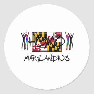 Homo Maryland Classic Round Sticker