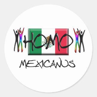 Homo Mexico Classic Round Sticker