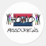 Homo Missouri Pegatinas Redondas