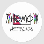 Homo Nepal Classic Round Sticker