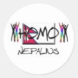 Homo Nepal Pegatina Redonda
