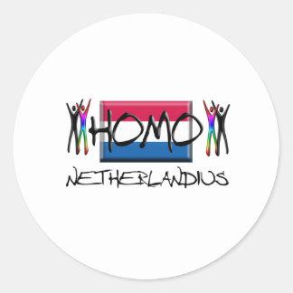 Homo Netherland Classic Round Sticker