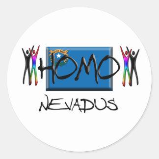 Homo Nevada Classic Round Sticker