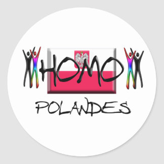 Homo Poland Classic Round Sticker