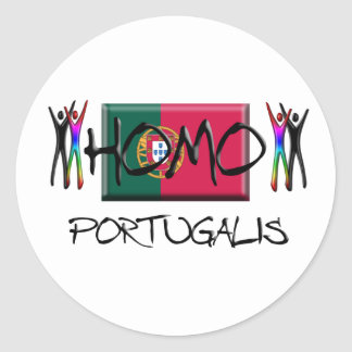 Homo Portugal Classic Round Sticker