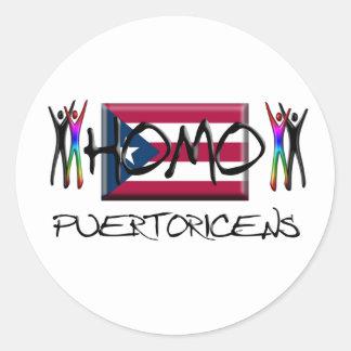 Homo Puerto Rico Classic Round Sticker