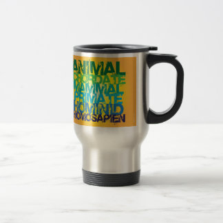 Homo sapien travel mug