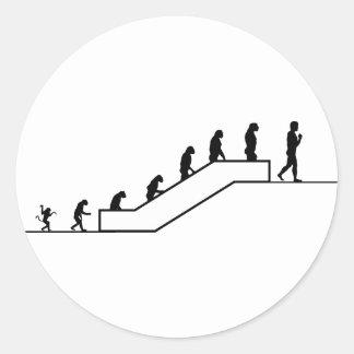 Homo sapiens, 2do piso pegatina redonda