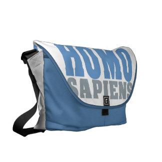 HOMO SAPIENS custom messenger bag