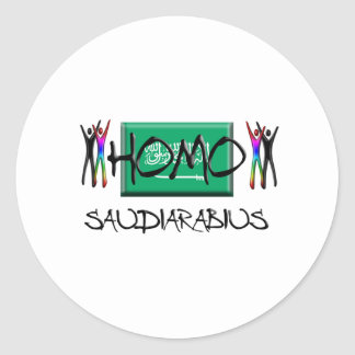 Homo Saudi Arabia Classic Round Sticker