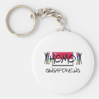 Homo Singapore Basic Round Button Keychain