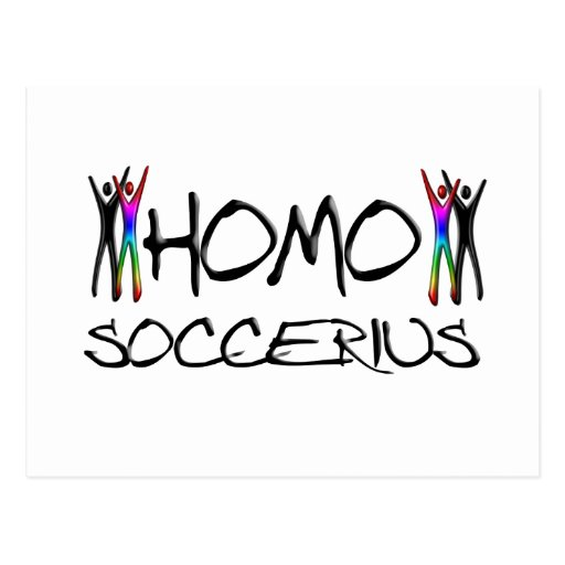 Homo soccer postcard