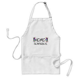 Homo surfing adult apron