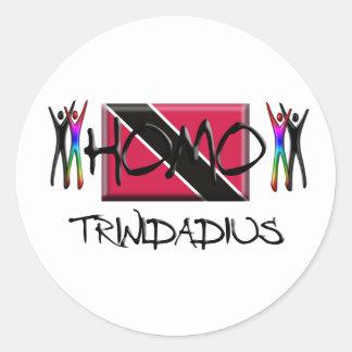 Homo Trinidad Classic Round Sticker