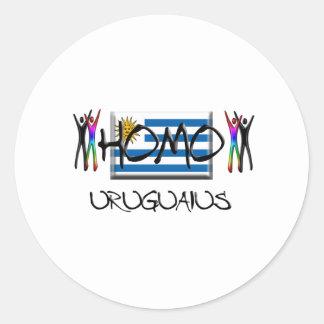 Homo Uruguay Classic Round Sticker
