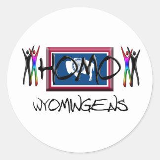 Homo Wyoming Classic Round Sticker