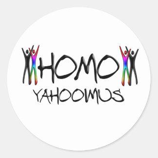 Homo yahoo classic round sticker