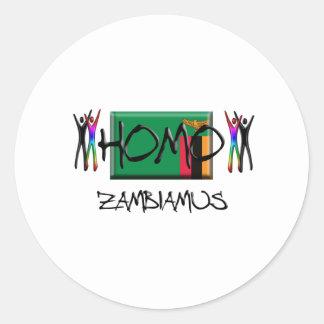 Homo Zambia Classic Round Sticker
