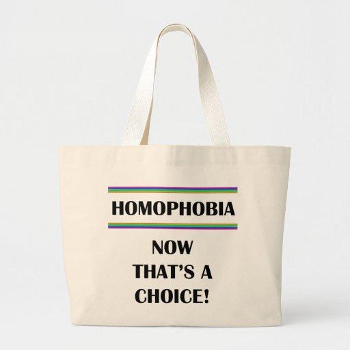 Homofobia….¡Ahora que es una opción! Bolsas