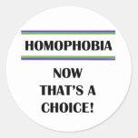 Homofobia….¡Ahora que es una opción! Etiquetas Redondas