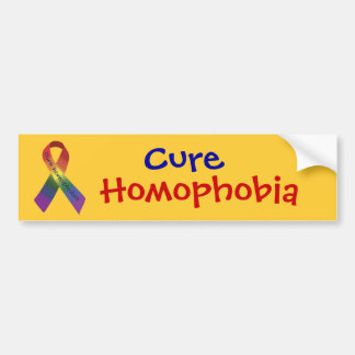 Homofobia de la curación pegatina de parachoque