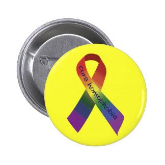 Homofobia de la curación pin redondo 5 cm
