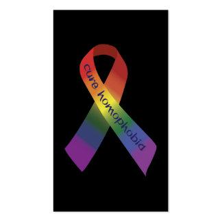 Homofobia de la curación plantillas de tarjeta de negocio
