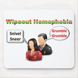 Homofobia del Wipeout Tapetes De Raton