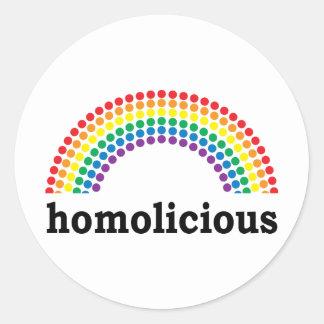 homolicious classic round sticker