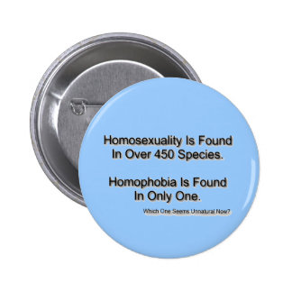 """Homophobia"" 2 Inch Round Button"