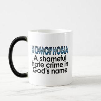 Homophobia: A shameful hate crime in God's name Magic Mug