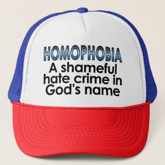 Homophobia: A shameful hate crime in God's name Trucker Hat