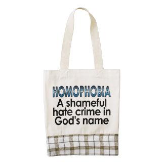 Homophobia: A shameful hate crime in God's name Zazzle HEART Tote Bag