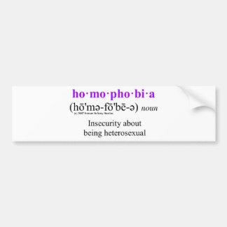 homophobia bumper sticker
