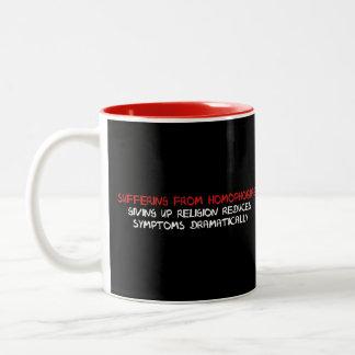 Homophobia Cure Two-Tone Coffee Mug