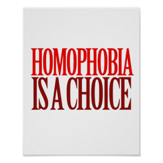 HOMOPHOBIA IS A CHOICE POSTER