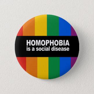 Homophobia is a social disease Bumper Sticker Button