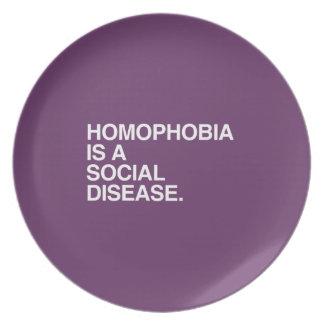 HOMOPHOBIA IS A SOCIAL DISEASE PLATE