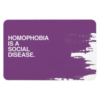 HOMOPHOBIA IS A SOCIAL DISEASE RECTANGULAR MAGNET
