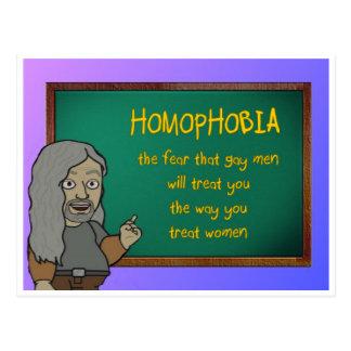 homophobia postcard