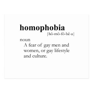 HOMOPHOBIC (definition) Postcard