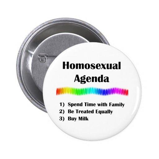 Homosexual Agenda 2 Inch Round Button