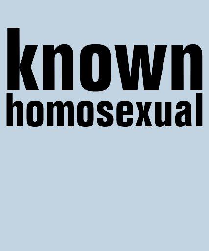 homosexual conocido playeras