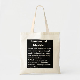 Homosexual Lifestyle Tote Bag