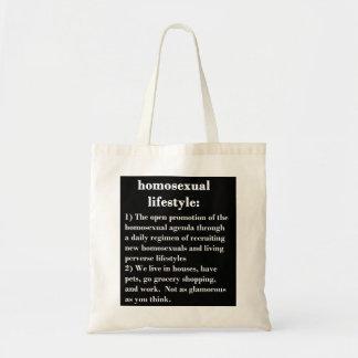 Homosexual Lifestyle Tote Bag