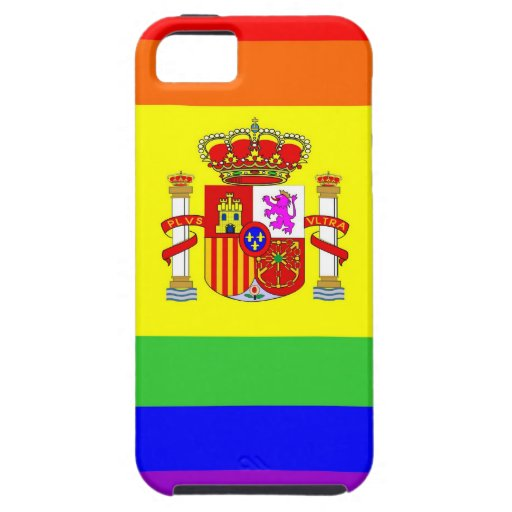 homosexual orgulloso gay de la bandera del arco iPhone 5 cobertura