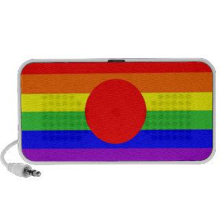 homosexual orgulloso gay de la bandera del arco ir mp3 altavoces